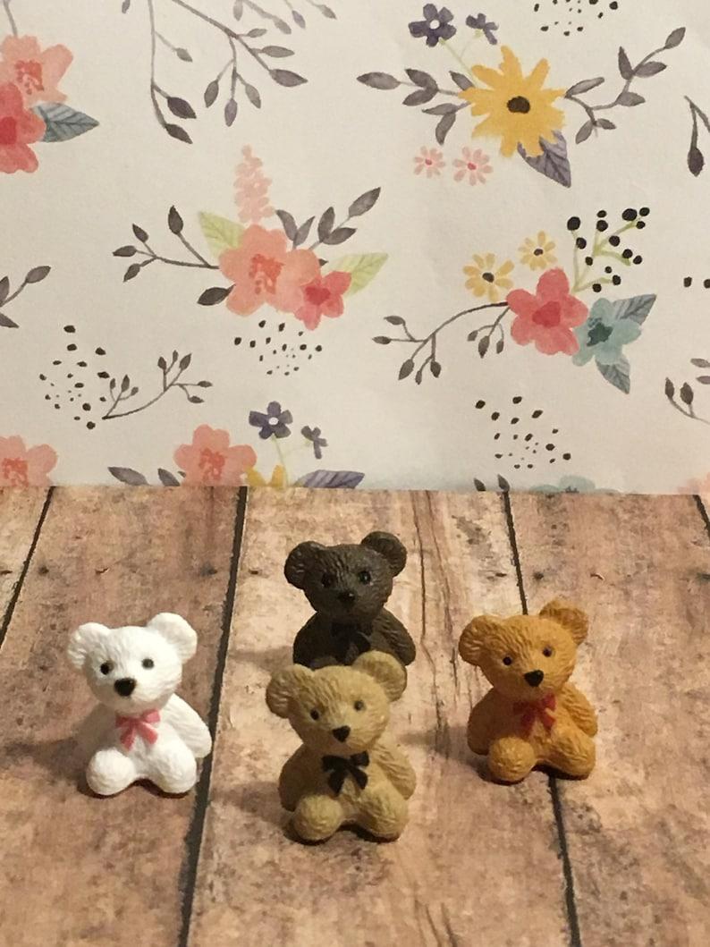 Miniatur Teddy Bären Fee Garten Puppenhaus Zubehör Etsy