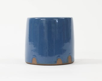 Dark Blue Wide Bottom Tumbler. No handle. 12oz. (43)