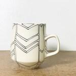 8. Black and White Chevron Mug. 16 oz.