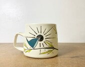 6. Luster Radiant Bird Mug. 14 oz.