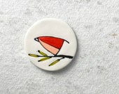 67. Red Bird Magnet. 1.5 inches. Super strong magnet.
