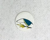 18. Teal Toucanet Magnet. 1.5 inches. Super strong magnet.