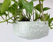 """59. Pale Green Textured Planter. 3 1/2"""" by 7""""  One piece, NO drainage hole."""