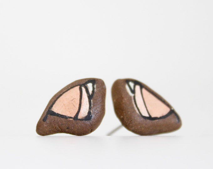 """20. Pink Bird Stud Earrings. Stainless steel stud with stabilizer backs. 1/2"""""""
