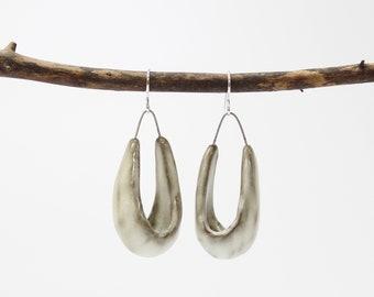 "48. Toast Hanging Basket Earrings. Sterling Silver Hooks. Medium size.  2 1/4""h x 3/4""w"