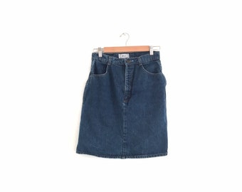 9168064a33ba96 90s Vintage Jean Skirt | Short Denim Skirt Size Medium