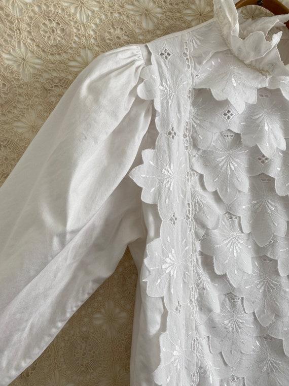 Austrian puff sleeve ruffle blouse - image 3