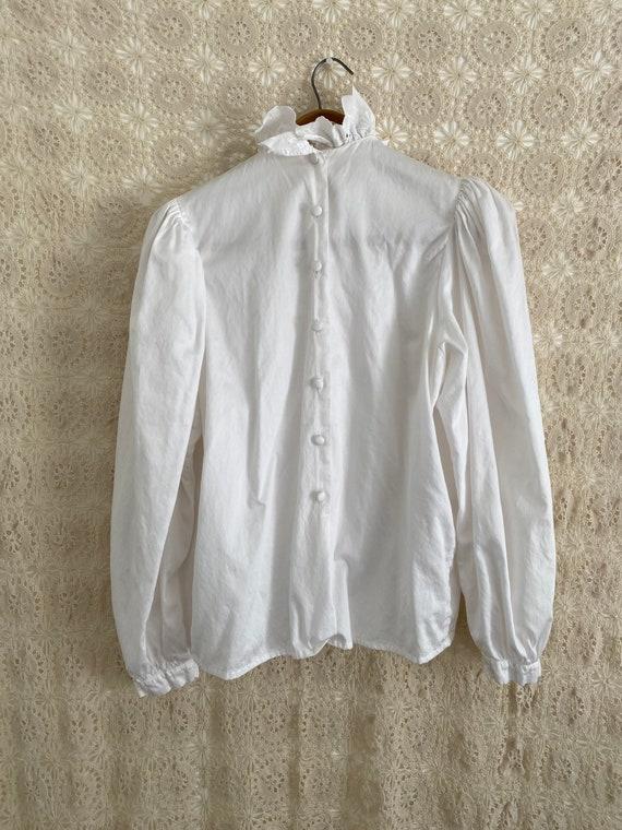 Austrian puff sleeve ruffle blouse - image 4