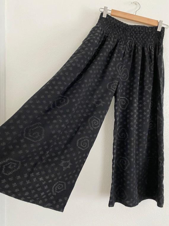 Wide leg cotton crop gaucho pants - image 3