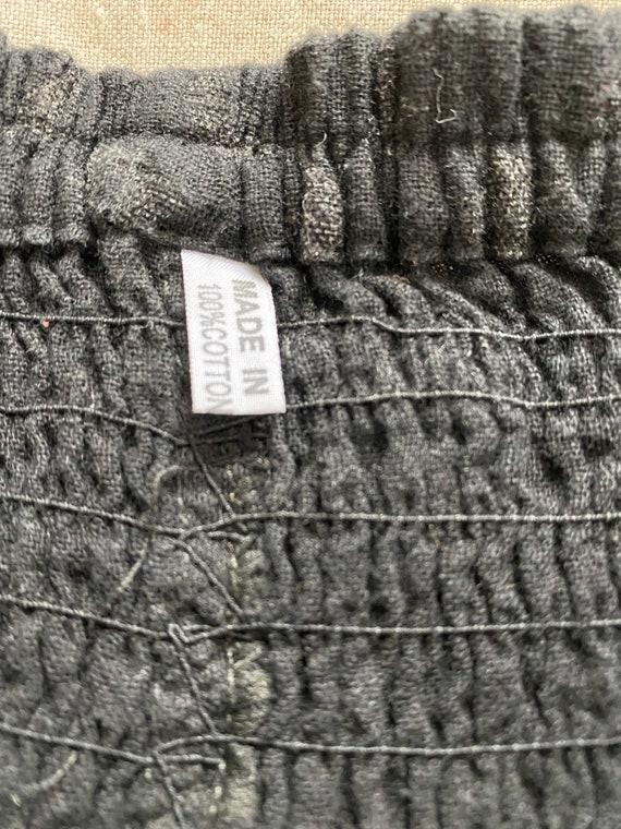 Wide leg cotton crop gaucho pants - image 8