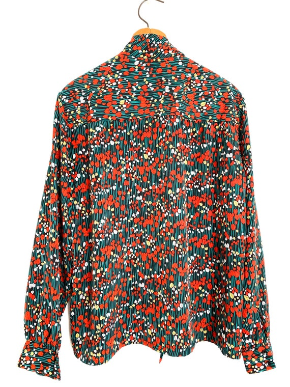 Tulip Print Pussy Bow Blouse Country Sophisticate… - image 7