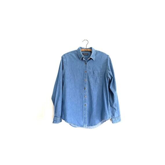 Vintage denim jean shirt