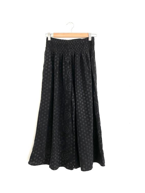Wide leg cotton crop gaucho pants - image 2