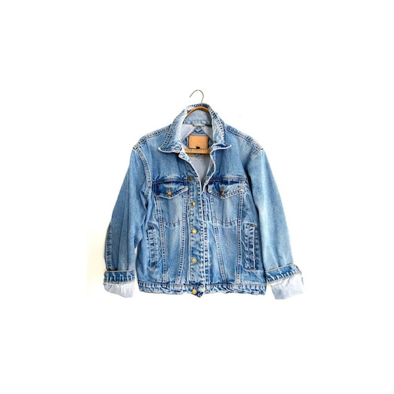 Worn denim jacket
