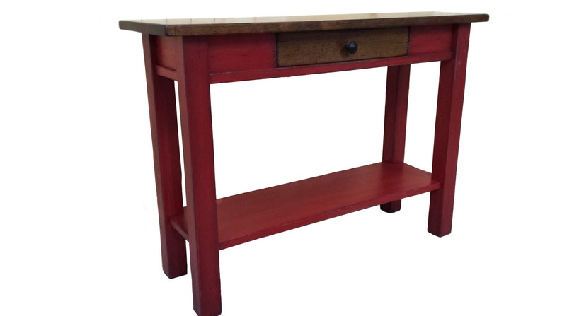 Hallway Table / Red Side Table / Antique Red / Pine Sofa Table | Etsy