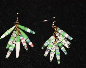 Rolled Paper Rwandan Earrings