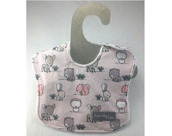 baby girl bib, bunny bib, leak proof bib, drool bib, absorbent bib, newborn bib, owl bib, deer bib, ready to ship, bear bib, infant bib