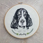 Custom Dog Portrait Watercolor Modern Embroidery Hoop Art: Gift for Pet Lover