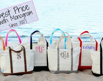Monogram Boat Tote, Large Boat Tote, Personalized Beach tote, Bridesmaid  gift, Monogrammed, Personalized bag a175ed1c2b