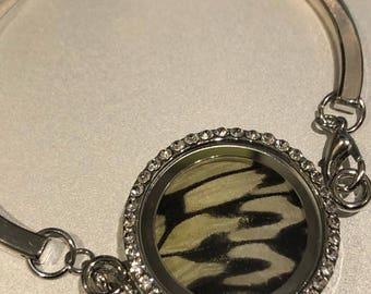 Malabar Tree Nymph Butterfly Wing Locket Bracelet