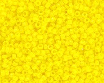 380 grams 15/0 Opaque Yellow Toho Beads