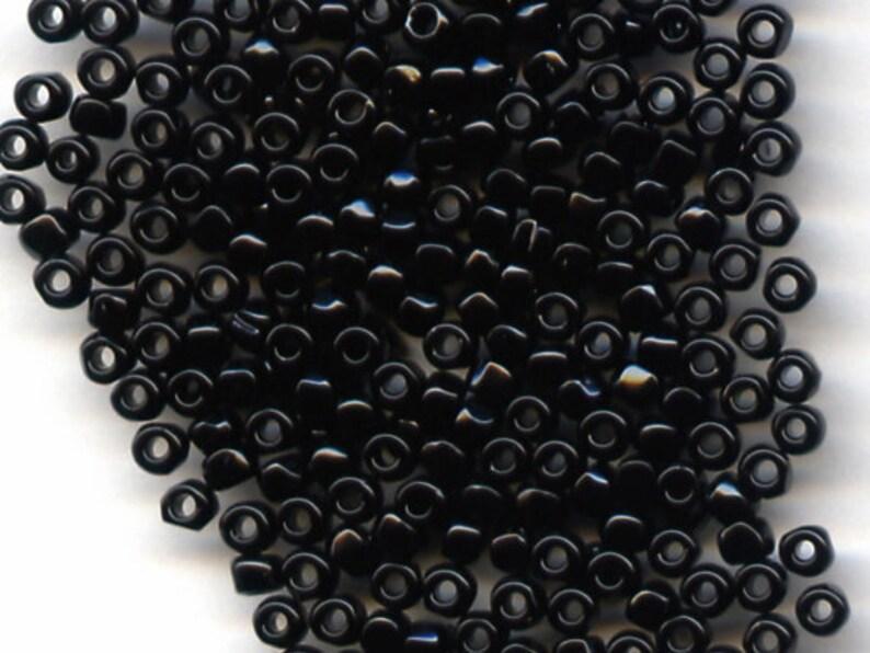 12/0  3 cut Toho Opaque Black Beads 1/2 Kilo image 0