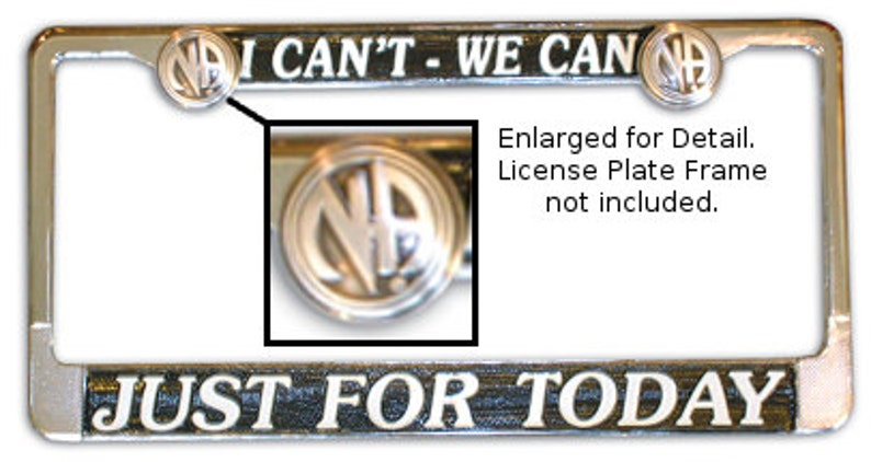 Narcotics Anonymous License Plate Bolts image 0
