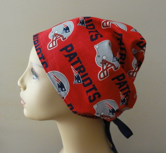 finest selection 73c90 bbd7c Scrub Hat made from New England Patriots Fabric Surgical Scrub   Etsy