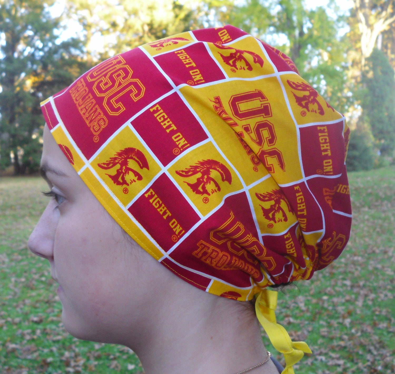 size 40 743c2 4baf9 Scrub Hat made with USC University Southern California Trojans   Etsy
