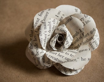 Book page flowers etsy two inch book page flowers paper roses upcycled recycled interior decor book lover gift custom wedding bouquet wedding gift mightylinksfo