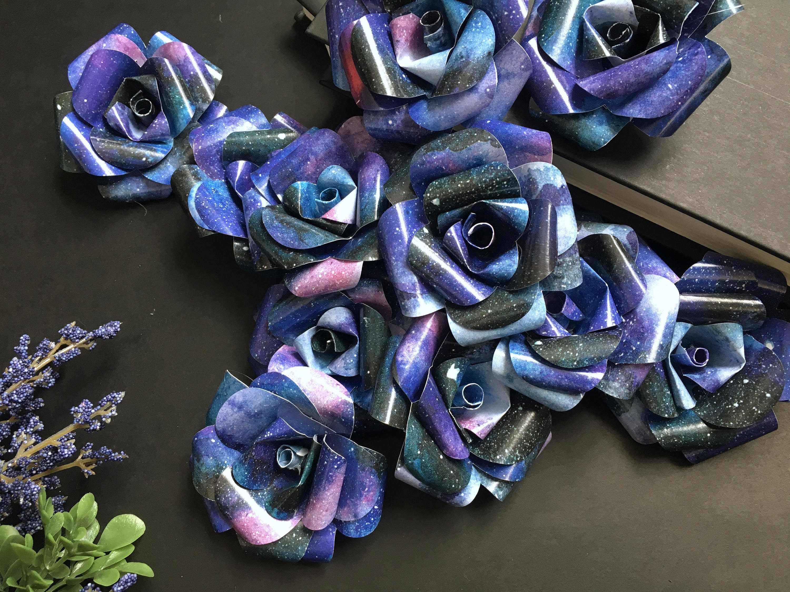 galaxy paper flowers cosmic nebula astronomy space themed | Etsy