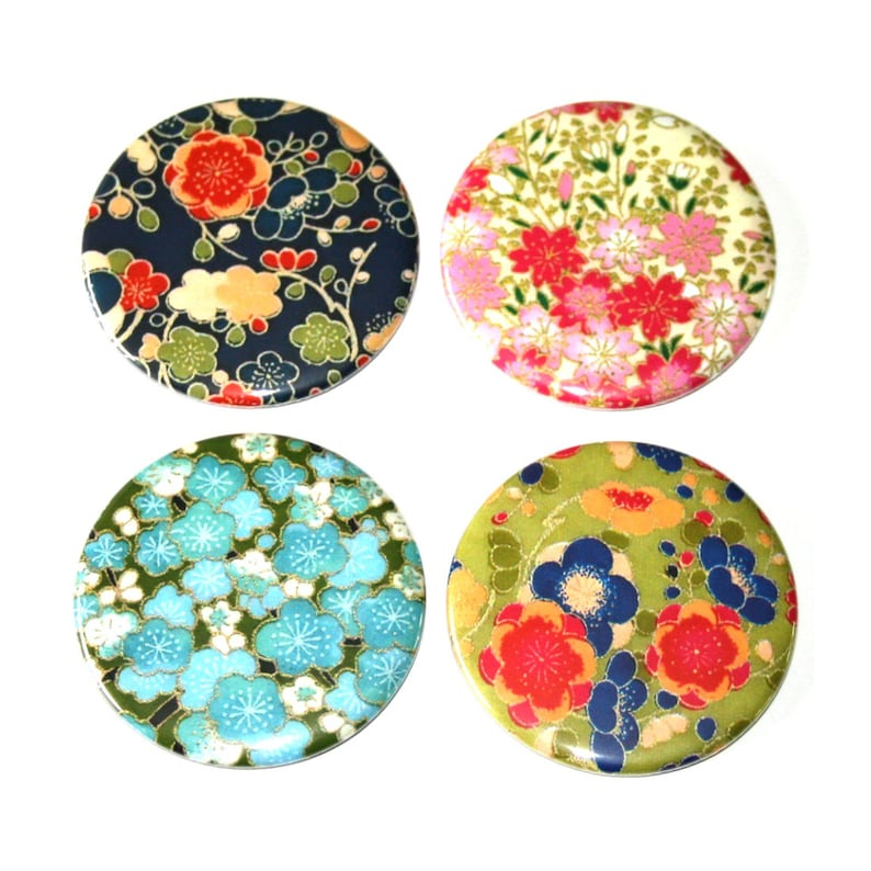 Washi Paper Designs Magnets  Set of 4 Large Fridge Magnets image 0