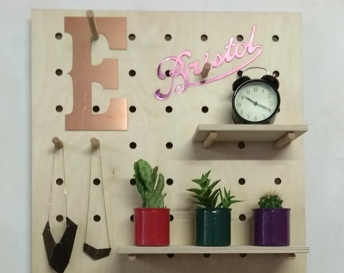 Giant Pegboard - Shelving Display Unit - Birch Plywood - Medium