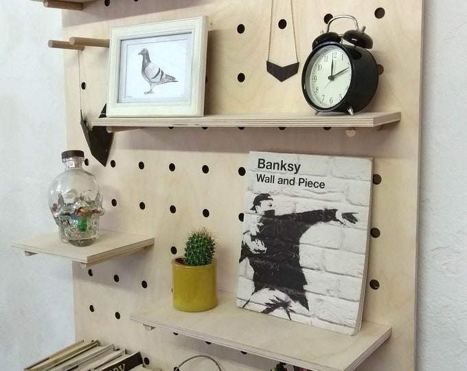 Giant Pegboard - Shelving Display Unit - Birch Plywood - Extra Large