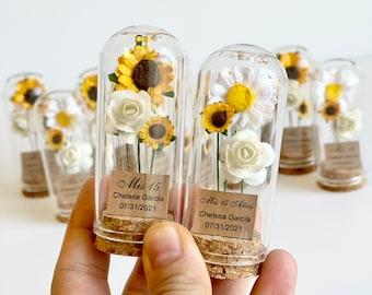 10pcs Wedding Favors for Guests, Wedding Favors, Favors, Rustic Wedding, Custom Favors, Sunflower Favors, Rustic Favors, Sunflowers, Party