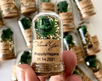 10pcs Wedding favors for guests, Wedding favors, Favors, Dome, Beauty and the Beast Favor, Custom favors, Emerald green favors, Party favors