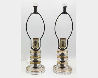 Superior Art Deco Glass Boudoir Lamps U0026 Finials