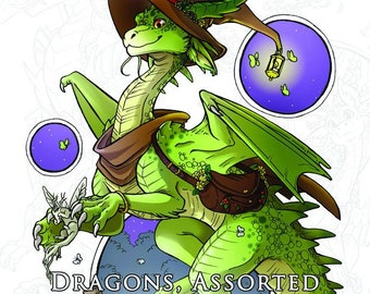 Dragons, Assorted - DIGITAL DOWNLOAD - Colouring Book - ALL 31 dragons - hand-drawn dragons to colour and design