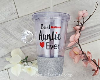 Aunt Tumbler, Aunt Gift, Best Auntie Ever, Best Aunt Gift, Custom Aunt Gift, Auntie Tumbler, Custom Aunt Gift, Best Friends Promoted to Aunt
