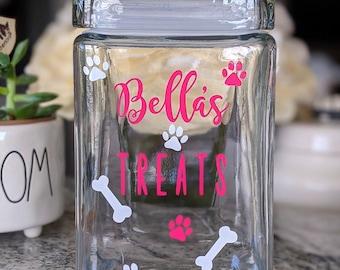 Dog Treat Jar, Dog Gift, Dog Treat Container, Dog Treat Holder, Dog Treat Canister, Custom Dog Treat Jar, Personalized Dog Treat Jar