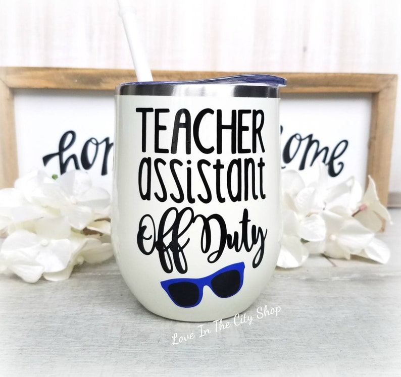 c810bce9f8b Assistant Teacher off duty student teacher tumbler teacher | Etsy