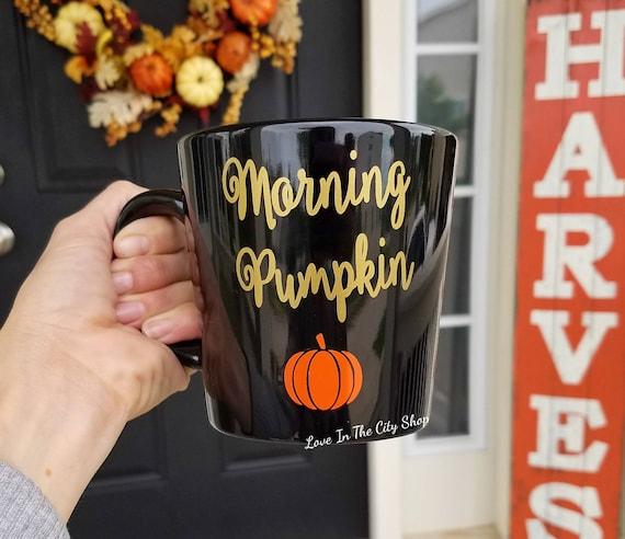 Kürbisbecher Morgenkürbis Guten Morgen Kürbis Herbstbecher Halloween Becher Kürbis Kaffeetasse Herbstkaffeetasse Herbstkaffeetasse