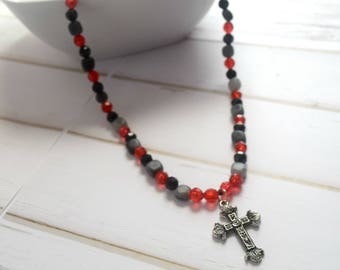 Communion Jewelry | Keepsake Necklace, Necklace Gift For Christian, Aunt Necklace, Gift For Babysitter, Prayer Necklace, Beaded Jewelry
