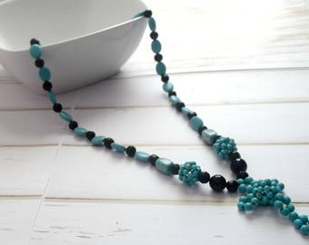 Faith Necklace | Keepsake Necklace, Necklace-For-Mom, Turquoise Necklace For Her, Faith Jewelry, Beaded Jewelry, Gift For Bride