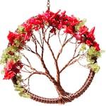 3-Inch Peridot + Coral Tree Suncatcher