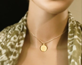 Greek Coin Replica Necklace, 14k Gold Filled Necklace, Choose your Coin, Gold Roman Necklace, Greek Mythology, #930