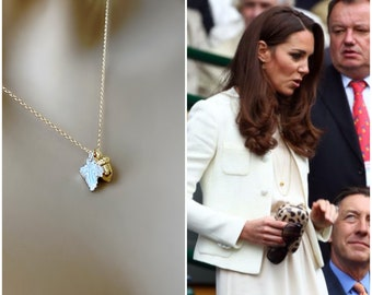 Kate Middleton Inspired Acorn Necklace, BACK in STOCK, 14k Gold Filled Necklace, Mixed Metal Layering Necklace, Royal Family Jewelry, #771
