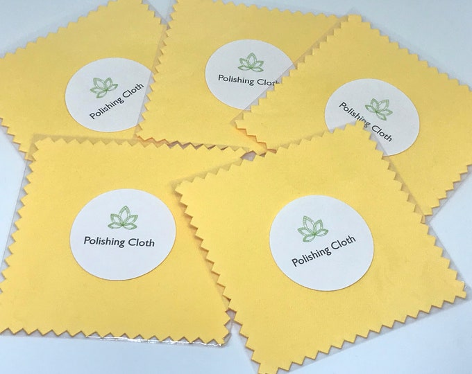 Polishing Cloth for Jewelry, Yellow Polishing Cloth, Sterling Silver or Gold Filled Jewelry Cloth, 3x3 Cloth ~ ADD ON or Bulk --> 10/20 Pack