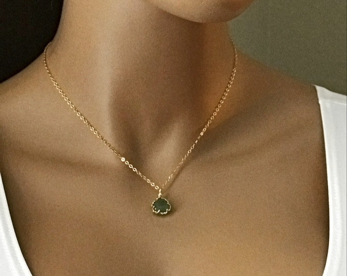 Border Wrap Gemstone necklace, 14k Gold Filled or Sterling Silver, Wrapped Border Amethyst, Labradorite,  Layering Gemstone