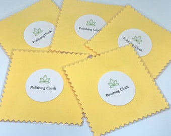Polishing Cloth for Jewelry, Yellow Cloth, Sterling Silver or Gold Filled Jewelry Cloth, 3x3 Cloth ~ ADD ON or Bulk --> 10/20 Pack, #513